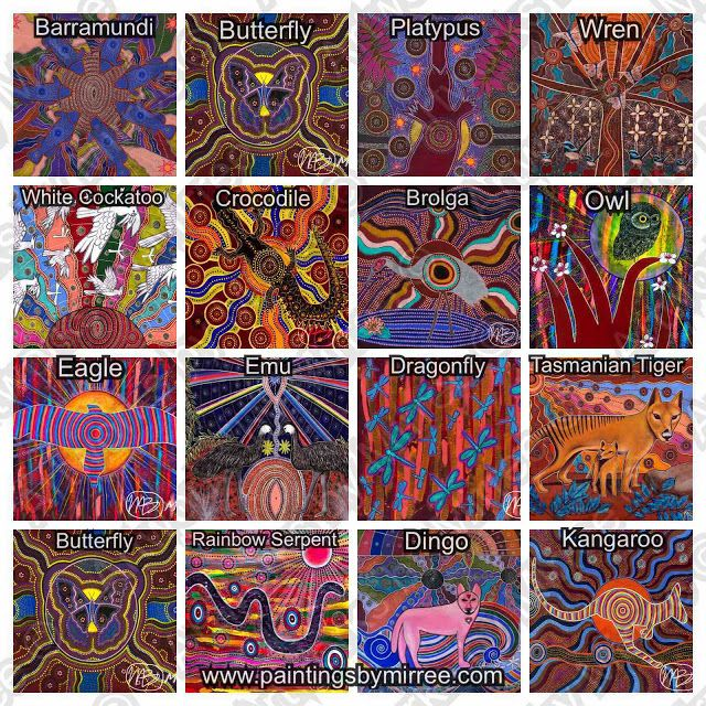 Artworks by Mirree: Animal Totems by Mirree