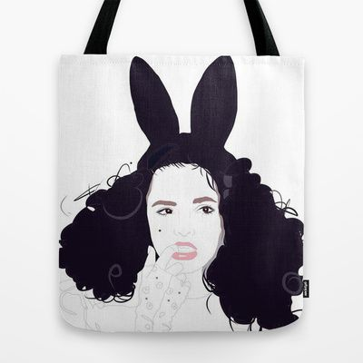 Bunny Ears & Lace Tote Bag by Footeprints - $22.00