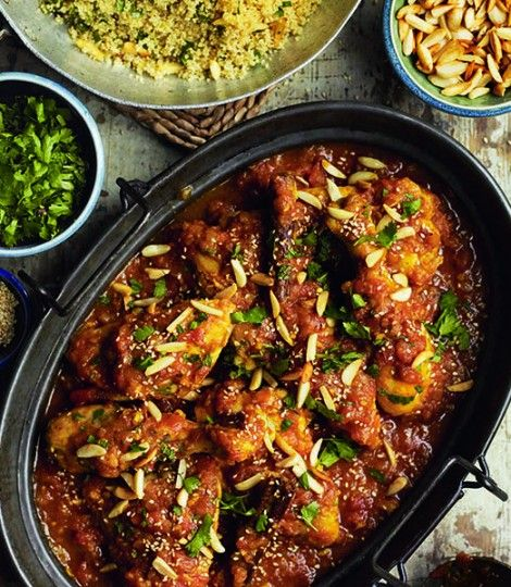 North African Chicken with Honey and Saffron: A fragrant Moroccan one-pot chicken recipe
