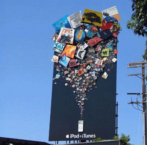 Uff... amé esta valla publicitaria - #Publicidad ipod & itunes