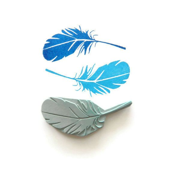 Feather - Hand Carved Rubber Stamp Idea