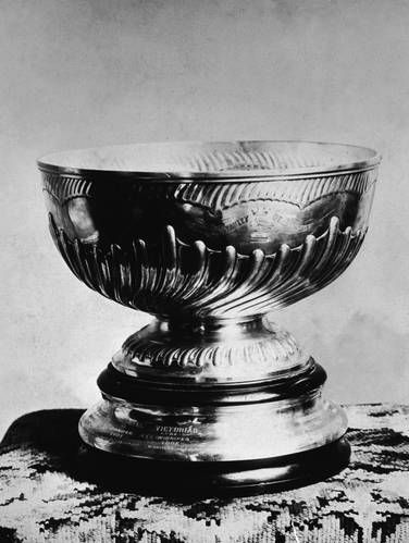 The Original Stanley Cup,1902...The original Stanley Cup bowl was retired in the 1960s and replaced by a replica. It now lives at the Hockey Hall of Fame in Toronto.