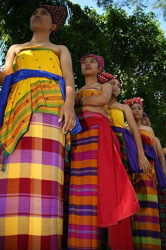 Women With Traditional Clothing During A Festival, Mataram, Lombok Island, Indonesia