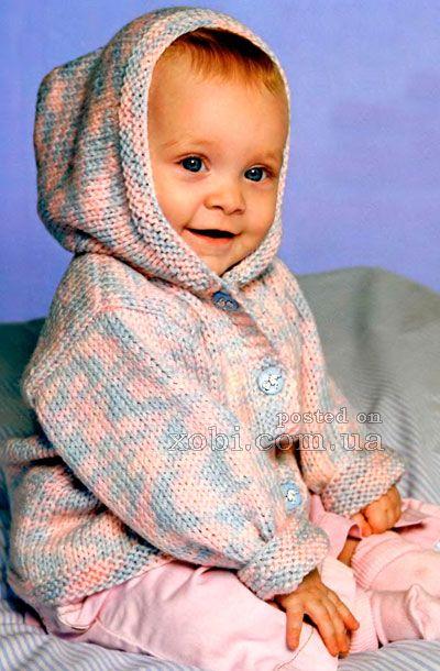 меланжевый жакет с капюшоном для малыша