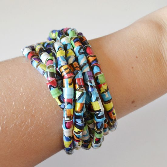 Duck Tape Beads DIY -Dream a Little Bigger made with straws and duct tape  pretty simple idea