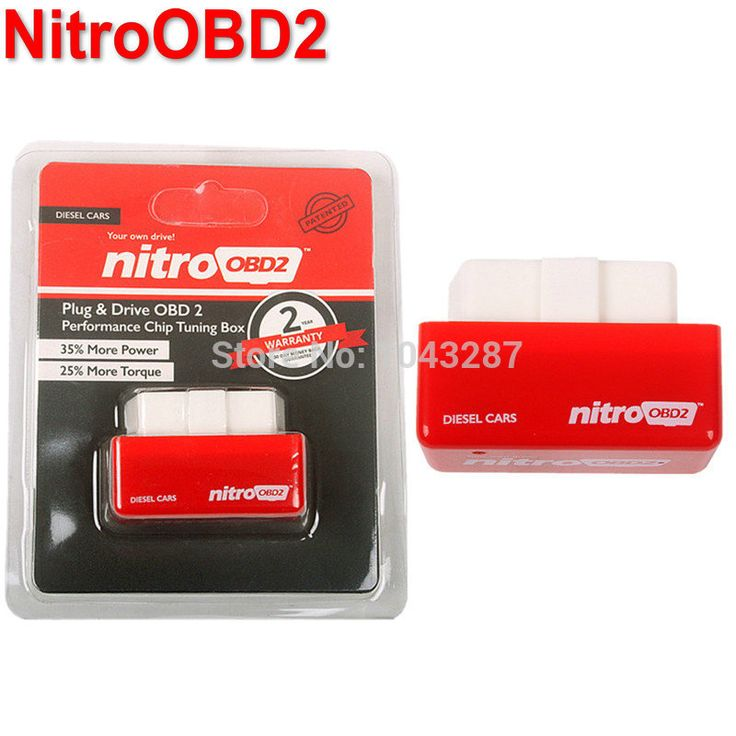 Hot Sale Asli NitroOBD2 OBD2 Chip Tuning Box Nitro Kinerja Plug dan Drive OBD2 Chip Tuning Bekerja Untuk Diesel Ritel kotak
