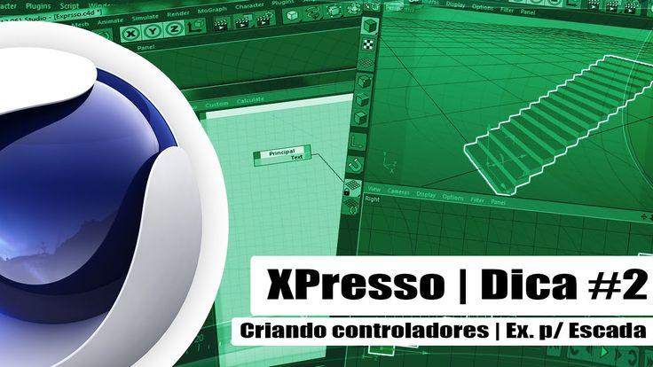 Criando controladores com Xpresso | Escada - Tutorial cinema 4D / Portug...
