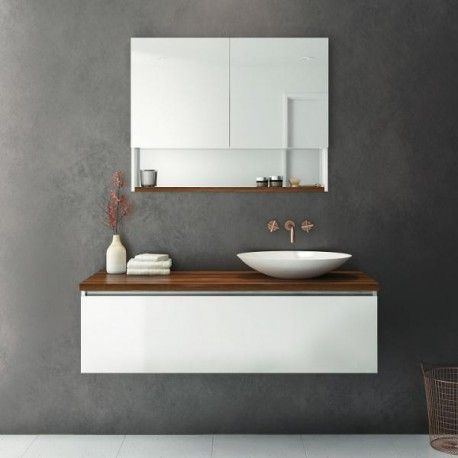 Rifco Platinum Vanity with Timber top 1200