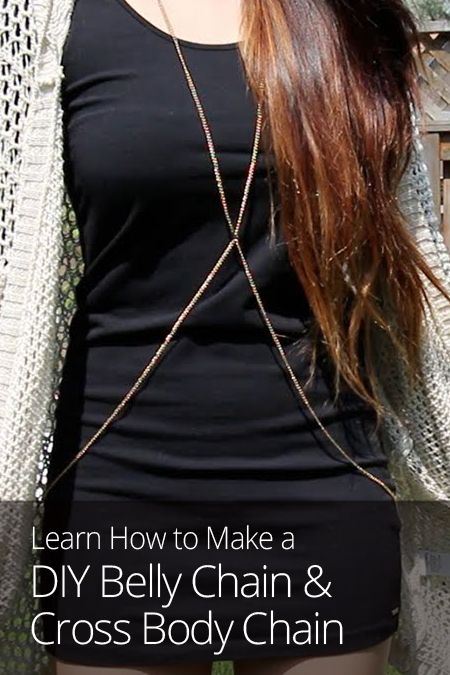 Get in on the latest jewelry trend: body chains! This lesson shows you how to make two varieties, the belly chain and the cross body chain!