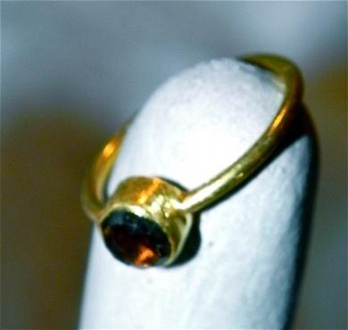 Gold Ring with round Smoky Stone - #poshprezzi