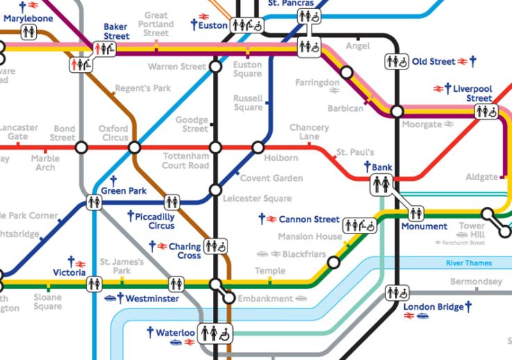 TFL has a handy map (PDF) of every tube station that has toilet facilities either inside it or in the same complex (e.g. the toilets in a National Rail station). Remember, though, that it might still take you a while to find them once you've got off the train.