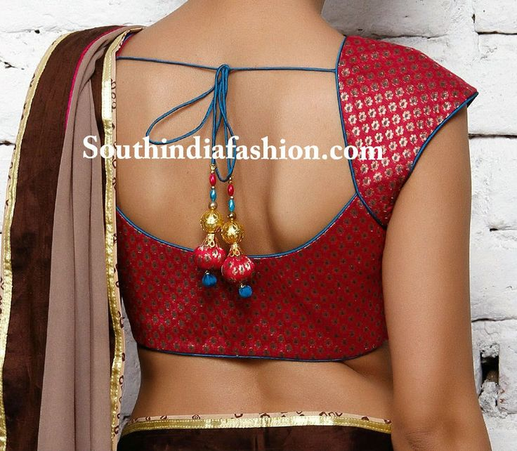 Simple and Stylish Brocade Blouse