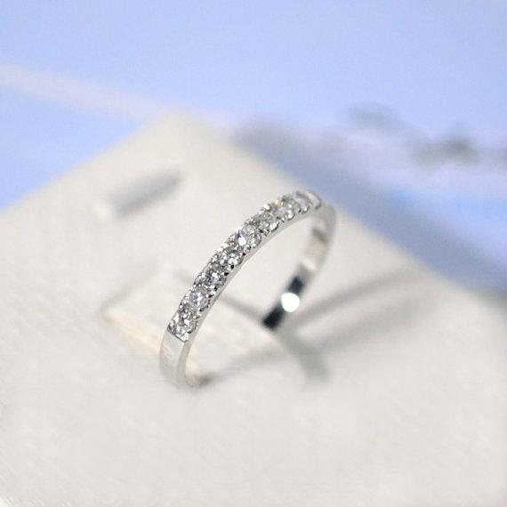 031 Carat Diamond Half Eternity Ring Wedding Ring by stevejewelry, $599.00