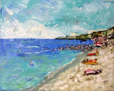 """Saatchi Art Artist Paolo Cervino; Painting, """"About poetry-77- Beach Penna Grossa"""" #art"""
