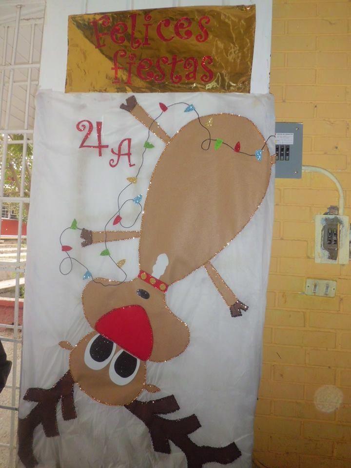 Puerta de navidad classroom decoration pinterest - Decoracion en navidad ...