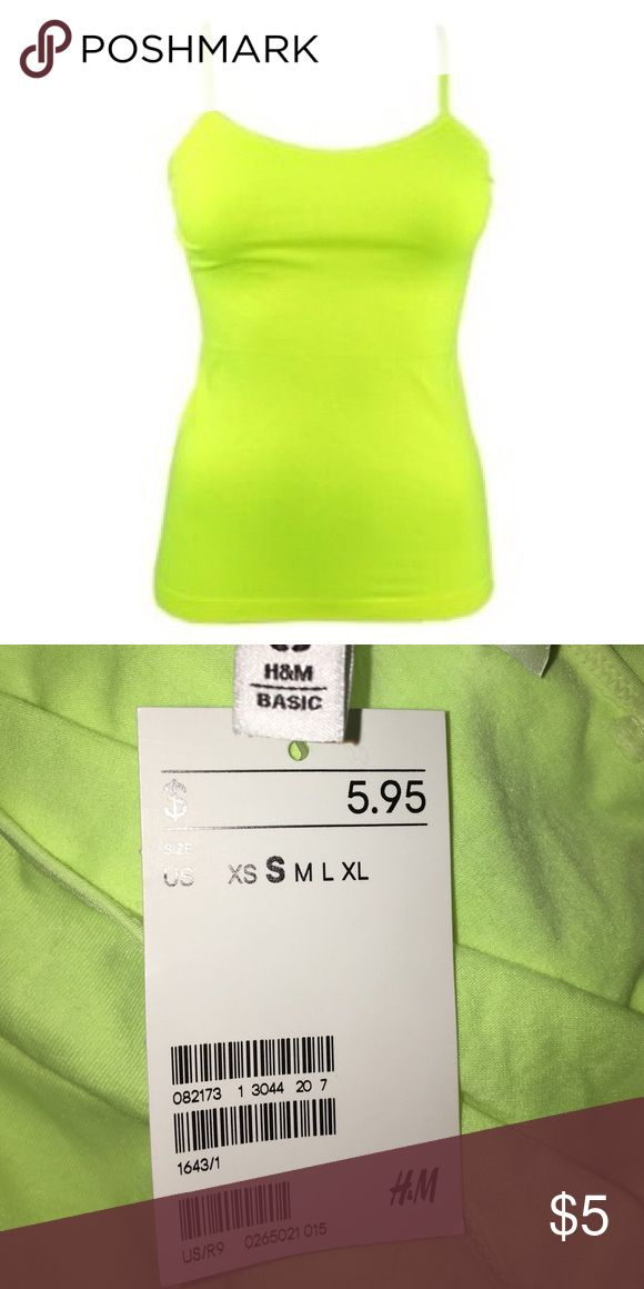 Neon Green Cami Brand new with tags. Divided Tops Tank Tops