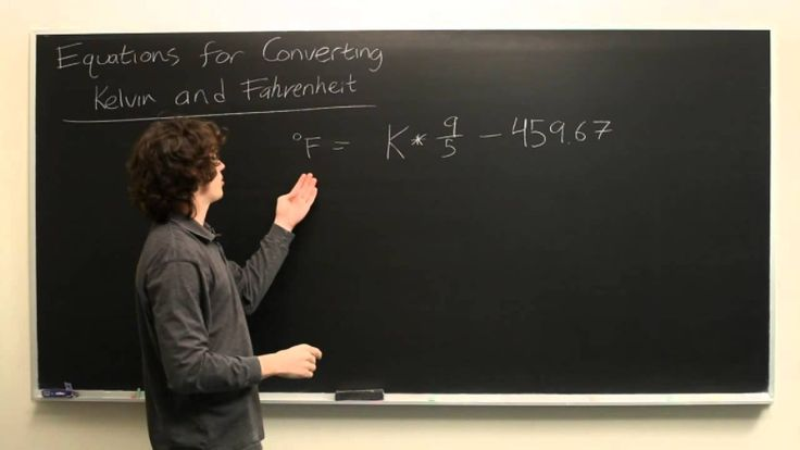 Equation for Kelvin to Fahrenheit  Missed the lesson on converting Kelvin to Fahrenheit in class?  Don't fear. Ryan Malloy at the Worldwide Center of Mathematics can give you a quick reminder!