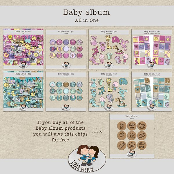 SoMa Design: Baby album - All In One - plus a freebie