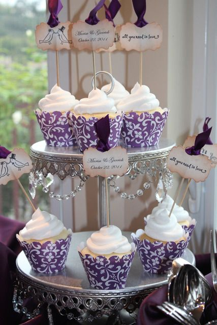 purple bridal shower ideas and themes | Purple damask and Peacock feathers!!! / Bridal/Wedding Shower / Party ...