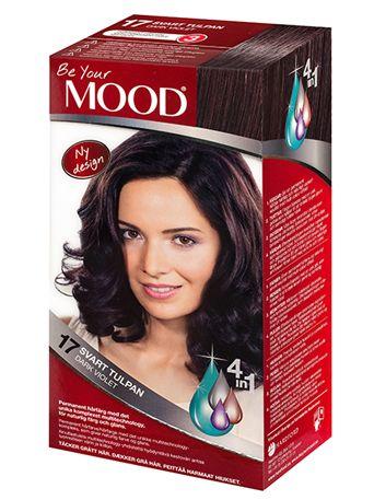 » N 17 SVART TULPAN Permanent hårfärg med det unika komplexet multitechnology – ett 4 in 1-system som färgar, tvättar, skyddar och vårdar ditt hår, för naturlig färg och glans. Täcker grått hår upp till 100%.  Brun nyans med violetta toner. Mörkt hår blir mörkbrunt med kraftig violett ton. Ljust hår blir intensivt, mörkt violett.