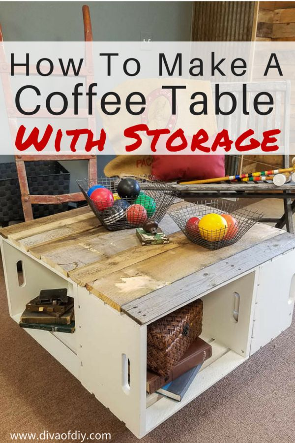 Add style and storage with this easy coffee table http://divaofdiy.com/diy-home-decor-easy-coffee-table-storage/?utm_campaign=coschedule&utm_source=pinterest&utm_medium=Diva%20of%20DIY%20%7C%20Tutorials%20For%20Your%20Favorite%20DIY%20Projects&utm_content=DIY%20Home%20Decor%3A%20Easy%20Coffee%20Table%20with%20Storage