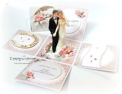 kartka na ślub hand made