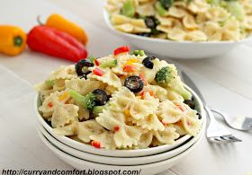 Curry and Comfort: Zesty Bow Tie Pasta Salad