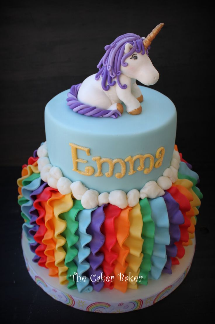 Children's Birthday Cakes - So pleased with how this one turned out!  Rainbows and unicorns!