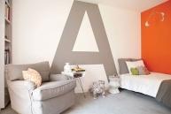 Designer Cari Berg, photo Karyn MilletKids Room Design, Big Letters, California Home, Room Ideas, Kid Rooms, Cool Room, Bonus Room, Bedrooms Decor Ideas, Accent Walls