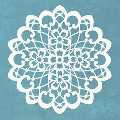 Wall Motif Lace Doily Stencil - Royal Design Studio Stencil  another option for floor stencil