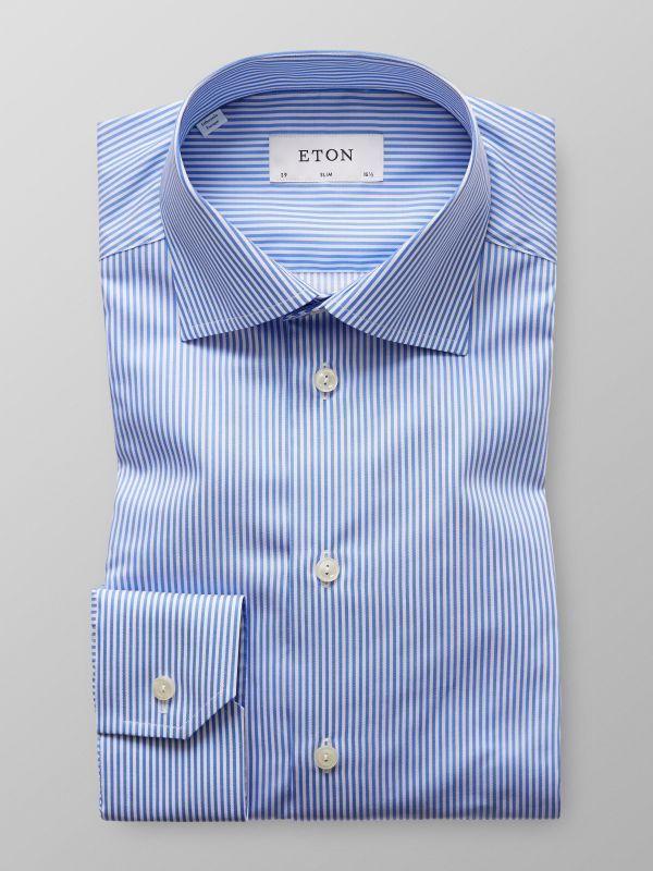 Blue & White Striped Shirt