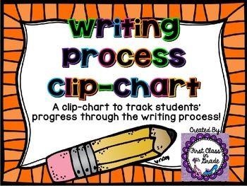 Writing Process Clip-Chart (Pencil Shaped)