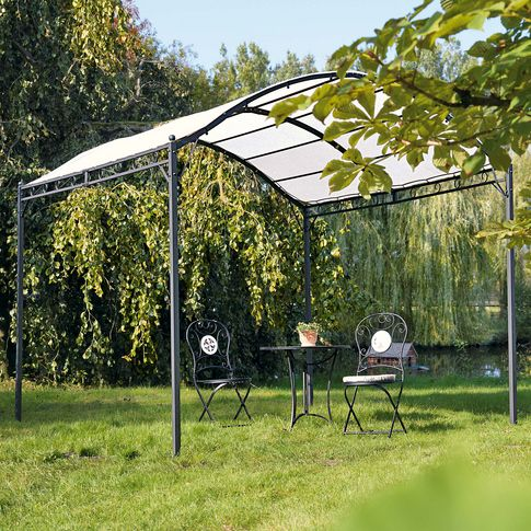 Pavillon Curve, Eisengestell/ Polyester Dach, ca. 295x300x265 cm