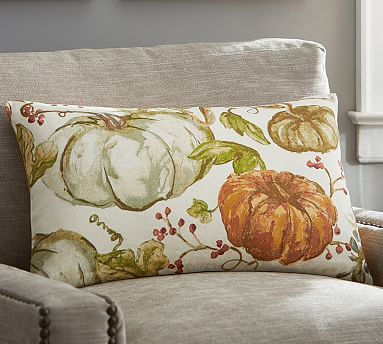 Painted Pumpkin Patch Lumbar Pillow Cover #potterybarn