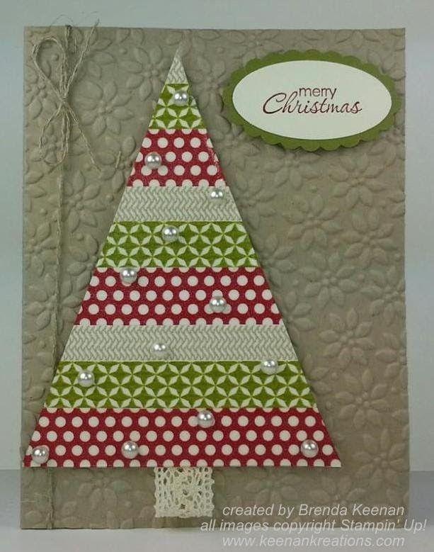 Stampin' Up! Washi Tape Christmas Tree card