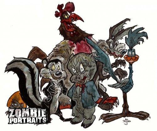 Looney Toons Zombies 500x419 Jpg 500 215 419 Creepy Pics