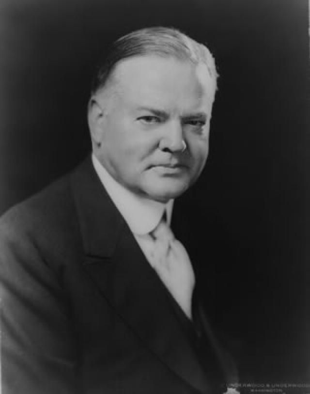 Herbert Hoover, Thirty-First President of the United States - Credit: Library of Congress, Prints and Photographs Division, LC-USZ62-24155 DLC