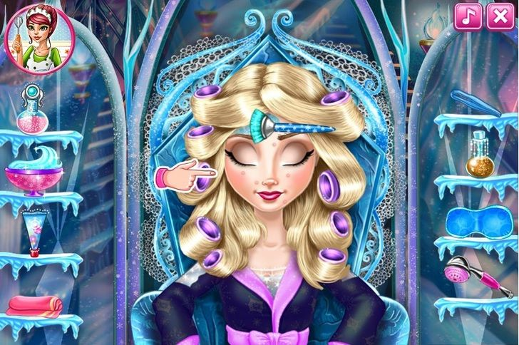 Play elsa frozen real makeover game