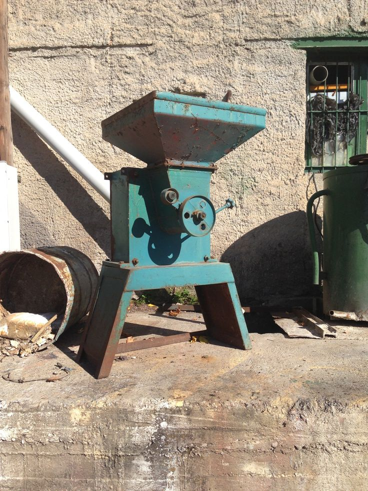 50s olive press (waiting to be shipped to London?)