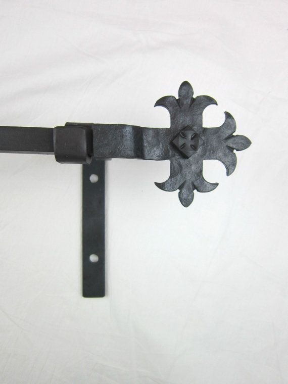 CRP8 spanish revival curtain rod hardware complete window package offered in 6 finishes