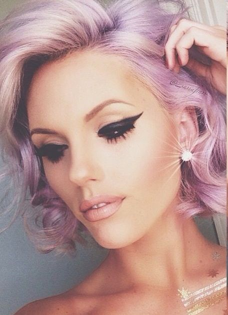 ℒᎧᏤᏋ her short blonde & pastel purple hair!!!! ღ❤ღ