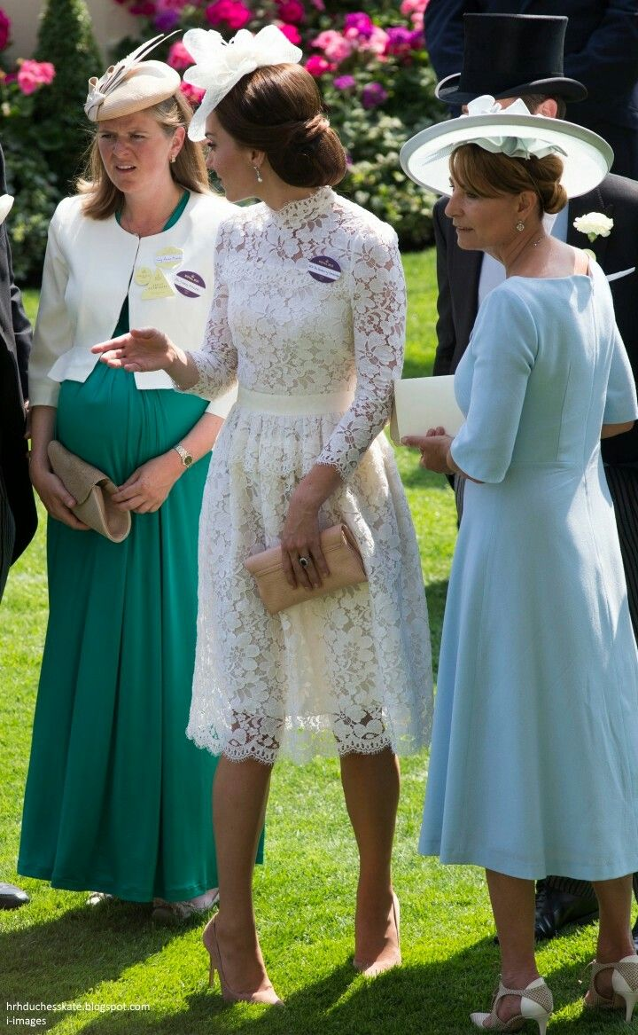 Apparently Kate didn't learn from Diana's mistake of not wearing a slip under her dress.