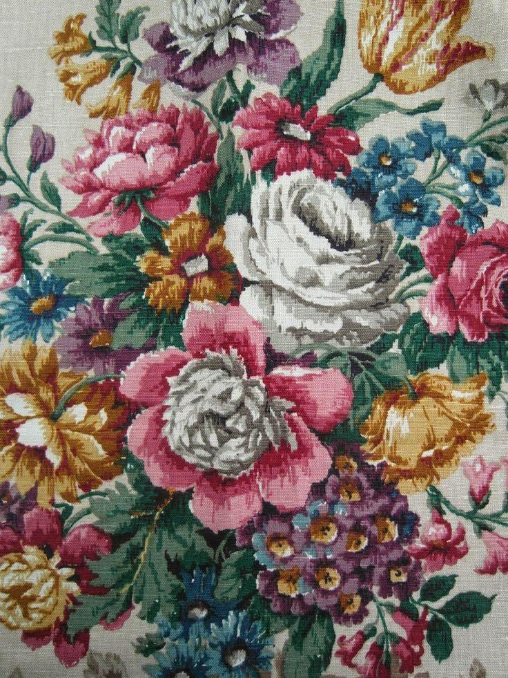 vintage Sanderson linen from nostalgiaatthestonehouse