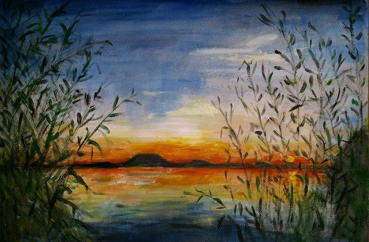 Balaton sunset. Balatoni naplemente.