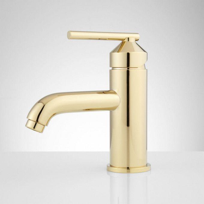 Pvd Polished Brass Side Single Hole Bathroom Faucet Bathroom Faucets Brass Bathroom Faucets