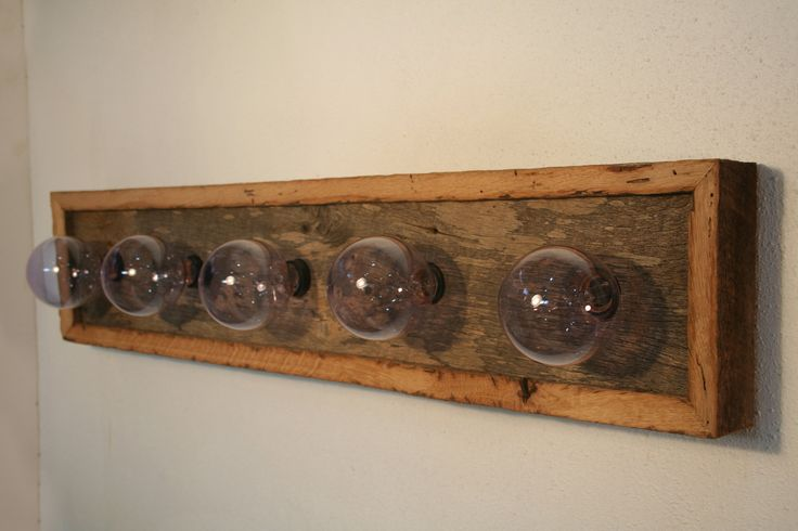 Vanity Light Fixture Reclaimed Oak Barnwood Vanity