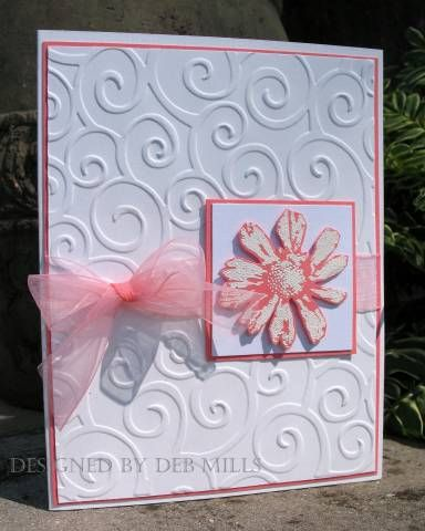 Abigail's wed. sample 2 by 88 keys - Cards and Paper Crafts at Splitcoaststampers (Petal Prints set, Cuttlebug folder)