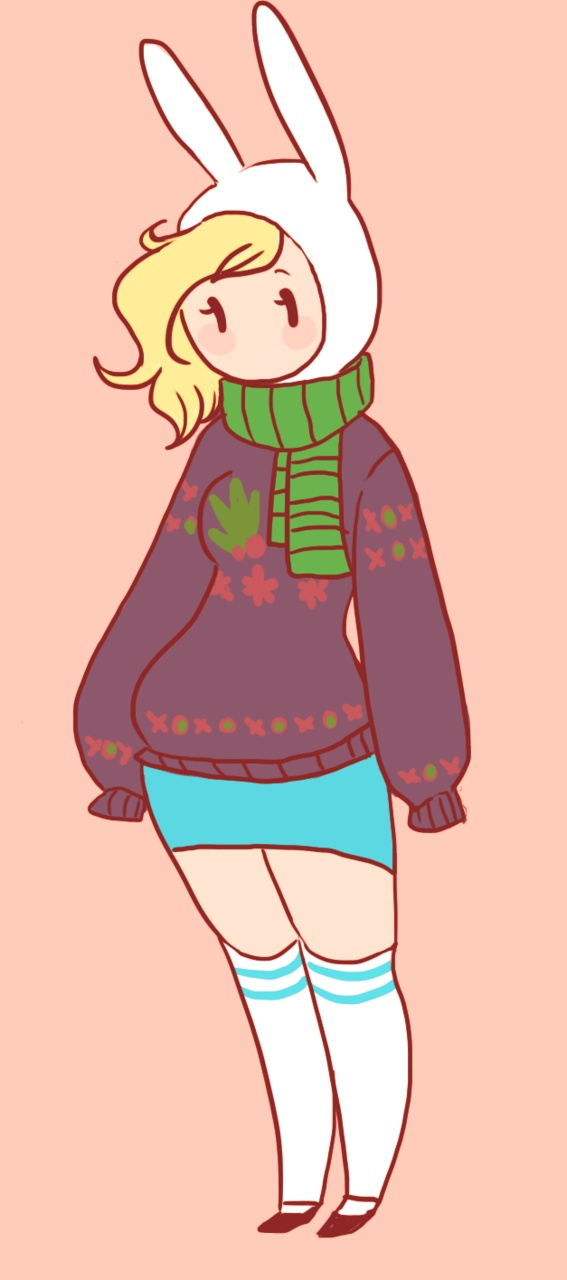 Fionna In A Christmas Sweater Toon Adventure Time Pinterest