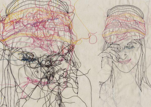 Fabric illustration | Different faces of Israel by YaMasha Masha Bartanayev, via Behance