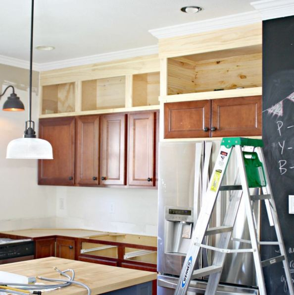 How To Build The Boxes Above The Kitchen Cabinets